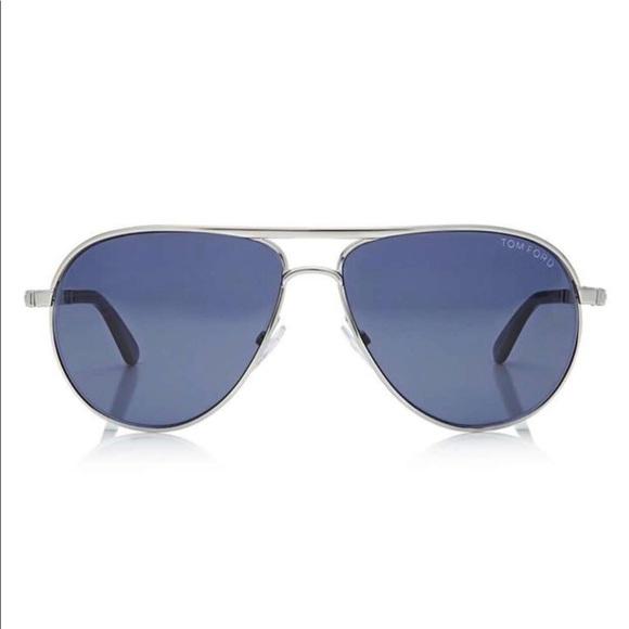 f2d36de812 Tom Ford Marko TF144 - Rhodium Silver   Blue Lens.  M 5b100039a6e3eaac8037716e